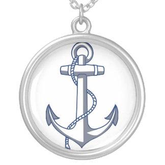 Nautical Anchor Ocean Sea Theme Silver Plated Necklace