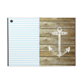 Nautical Anchor on wood graphic Cover For iPad Mini