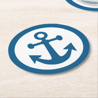 Nautical Anchor paper coasters
