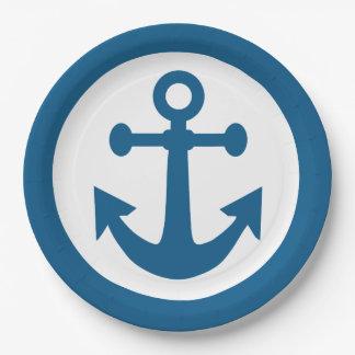 Nautical Anchor paper plates