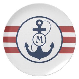 Nautical Anchor Dinner Plate