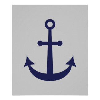 Nautical Anchor Poster