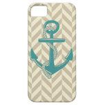 Nautical Anchor Print Design Boat Ocean Art iPhone 5/5S Cover