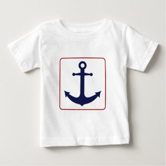 Nautical Anchor - Red White and Blue Baby T-Shirt