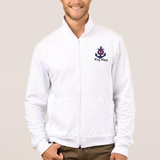 Nautical Anchor red white blue Jacket