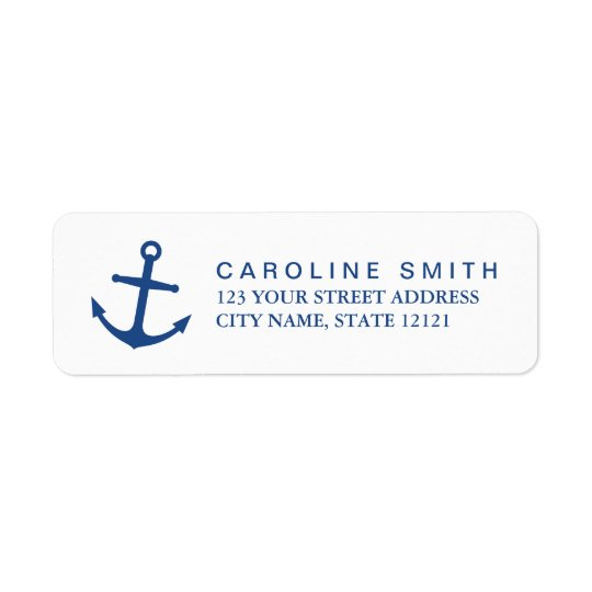 Nautical anchor return address