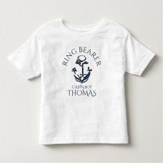 Nautical Anchor Ring Bearer Toddler T-Shirt