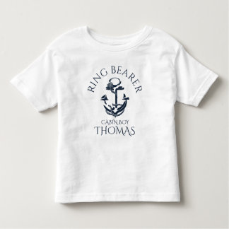 Nautical Anchor Ring Bearer Tshirts