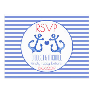 Nautical Anchor | RSVP Wedding Postcard