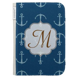 Nautical Anchor Sail Monogram Initial Kindle Cas Kindle Cases