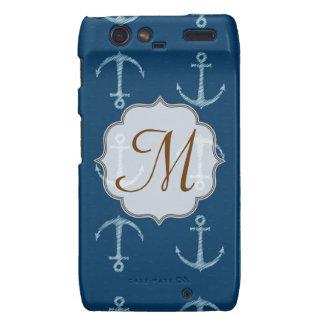 Nautical Anchor Sail Monogram Motorola Razr Cas Motorola Droid RAZR Cases