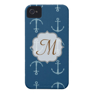 Nautical Anchor Sail Sailin Monogram IPHONE 4 Case