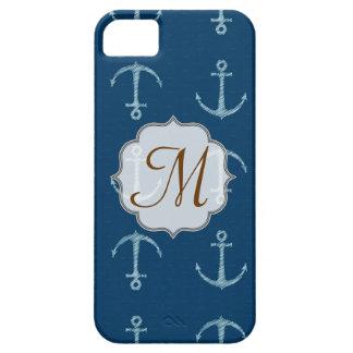 Nautical Anchor Sail Sailin Monogram IPHONE 5 Case