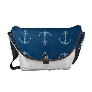 Nautical Anchor Sail Sailing Boat Bag Tote Purse Courier Bag