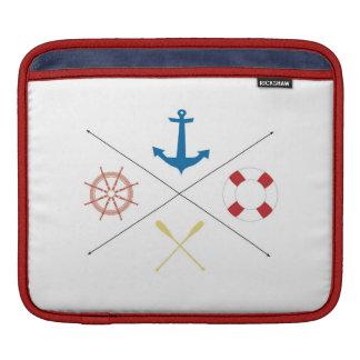 Nautical Anchor Sail Sailing Boat IPAD Laptop Bag iPad Sleeves