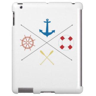 Nautical Anchor Sail Sailing Boat Ore IPAD Case