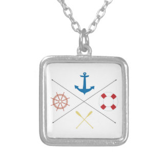 Nautical Anchor Sail Sailing Boat Ore Necklace
