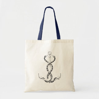 Nautical Anchor snakes Tote Bag