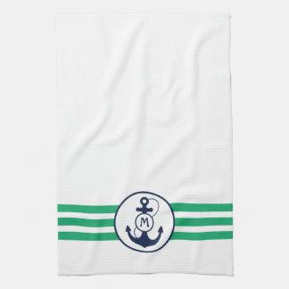Nautical Anchor Tea Towel