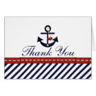 Nautical Anchor Thank You Notes Cards