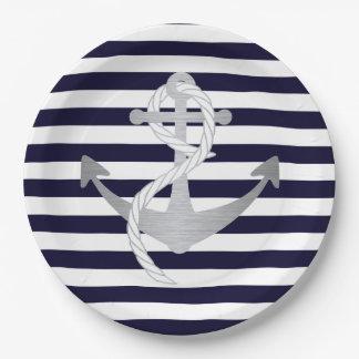Nautical Anchor Wedding Birthday or Shower Plates