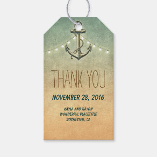 Nautical Anchor Wedding Gift Tags