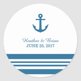 Nautical Anchor Wedding Stickers