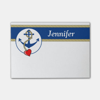 Nautical Anchor With Heart Post-it® Notes