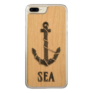 Nautical - Anchor with Sea Word Art Carved iPhone 8 Plus/7 Plus Case