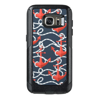 Nautical Anchors And Rope Pattern OtterBox Samsung Galaxy S7 Case