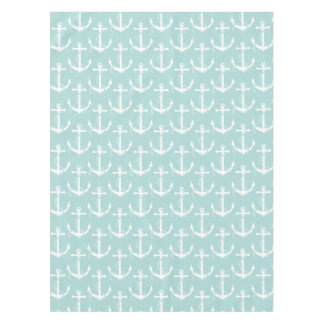 Nautical Anchors Aweigh Light Blue Tablecloth