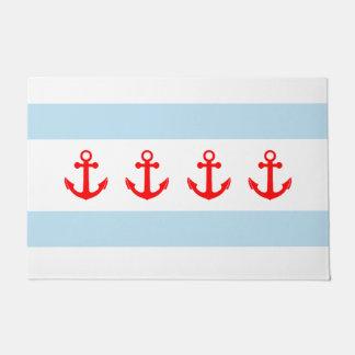 Nautical Anchors Chicago Flag Doormat