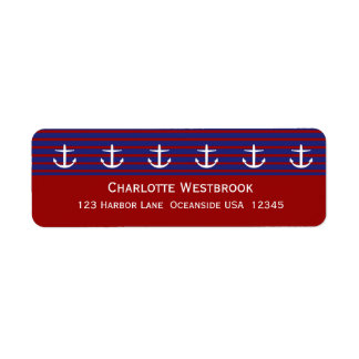 Nautical Anchors on Classic Stripe Personalized