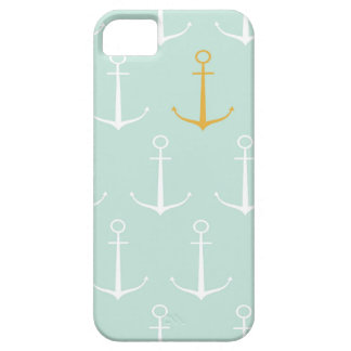Nautical anchors preppy girly blue anchor pattern iPhone 5 cases
