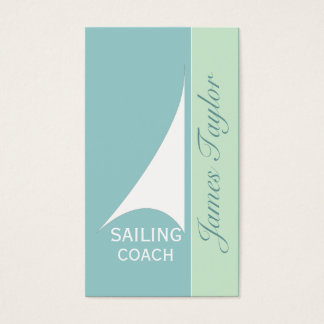 Nautical Aqua Minimal Sail Boat Sailing