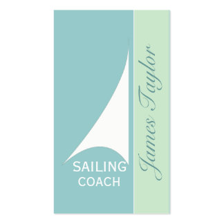 Nautical  Aqua Minimal Sail Boat Sailing Pack Of Standard Business Cards