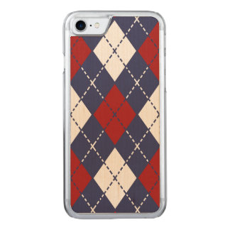 Nautical Argyle Pattern Carved iPhone 8/7 Case