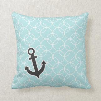 Nautical Baby Blue Circles Cushion