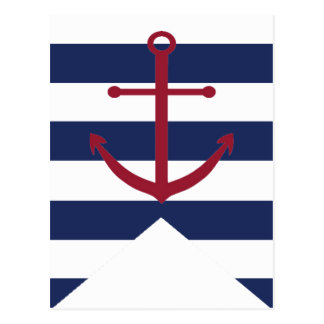 Nautical Baby Shower Anchor Bunting Flag Postcard