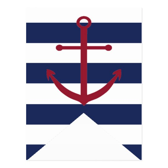 Nautical Baby Shower Anchor Bunting Flag Postcard