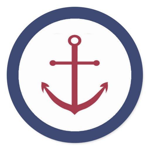 Nautical Baby Shower Anchor Envelope Seal Round Sticker | Zazzle