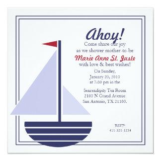 nautical BABY SHOWER custom invitation 1