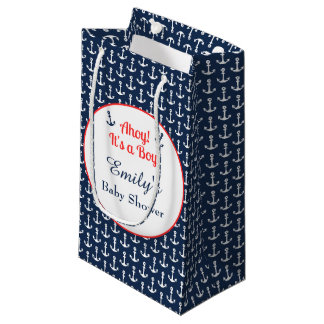 Nautical Baby Shower Gift Bag - Boy