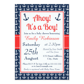 Nautical Baby Shower Invitation - Boy