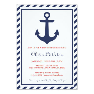 Nautical Baby Shower Invitations - Ahoy It's a Boy