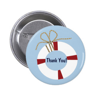 Nautical Baby Shower Lifesaver Thank You Favor Pin
