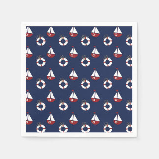Nautical Baby Shower Ocean Pattern Napkins Disposable Napkin