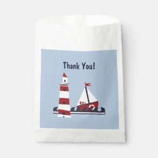 Nautical Baby Shower Ocean Scene Favor Gift Bag Favour Bags