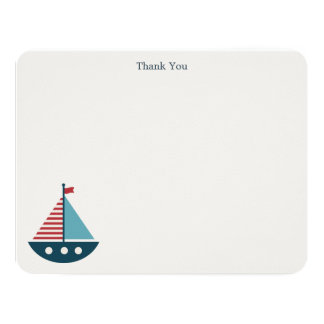Nautical Baby Shower Thank You Notes 11 Cm X 14 Cm Invitation Card
