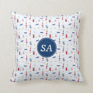 Nautical Back to School Dorm Essentials Cushion